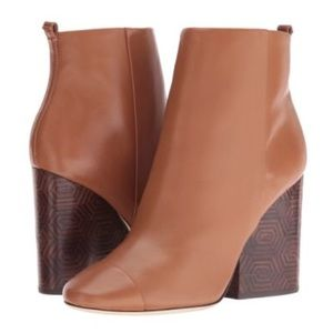 Tory Burch Grove Leather Heeled Booties